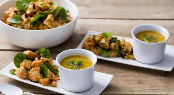 recette marocaine de poulet et couscous avec soupe de patates douces